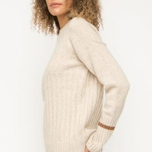 LAST 1! NWT Mystree Cream Sweater w/ Stripe